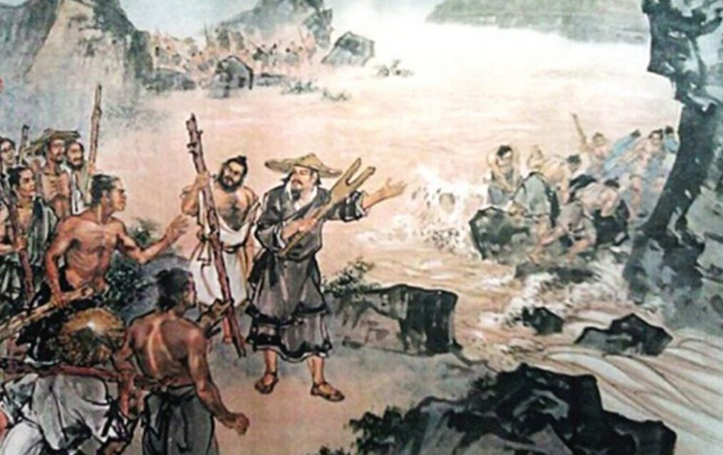 Chinese Great Flood and the Noble Dragon Yi